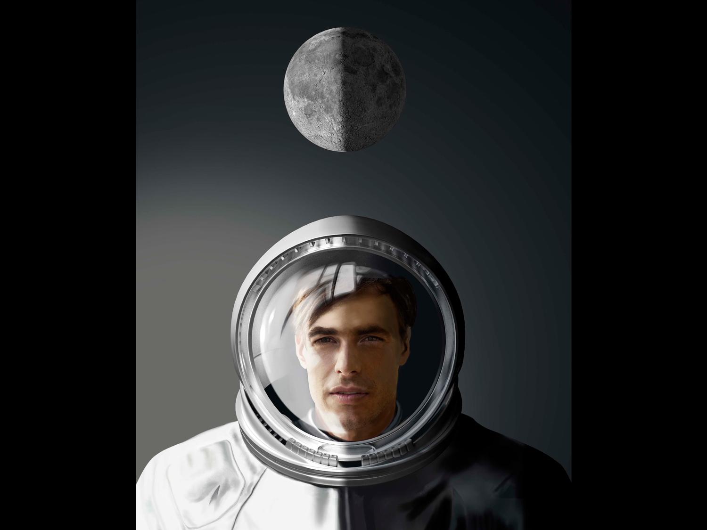 astronaute sous la lune
